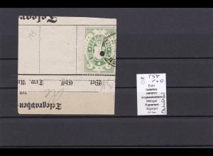 Bayern: MiNr. T5, auf Briefstück, BPP geprüft