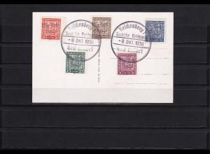 Sudetenland: Reichenberg MiNr. 11,12,13A,14,15, Karte AH und Henlein