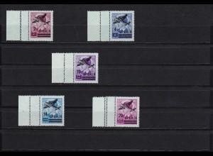 Serbien: Flugpostmarken MiNr. 66-70 L, **