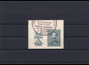 Sudetenland: Maffersdorf MiNr. 134 Zf w, gestempelt