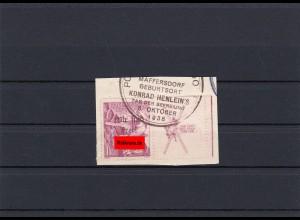 Sudetenland: Maffersdorf MiNr. 128 Zf w, gestempelt