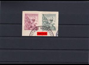 Sudetenland: Maffersdorf MiNr. 127-128, gestempelt