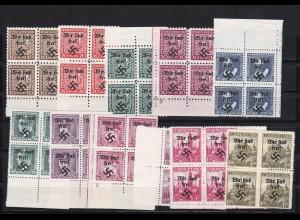 Sudetenland: Rumburg: MiNr. 2-12, **, Viererblocks
