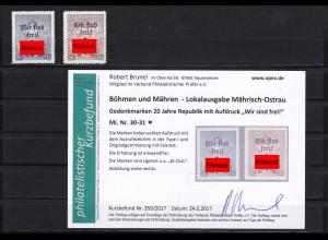 B&M: Mährisch Ostrau: MiNr. 30, 31, *