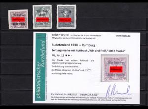 Sudetenland: Rumburg, MiNr. 19,49,50, **