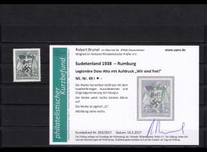 Sudetenland: Rumburg, MiNr. 49I, *