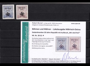 B&M: Mährisch Ostrau: MiNr. 30-31, *