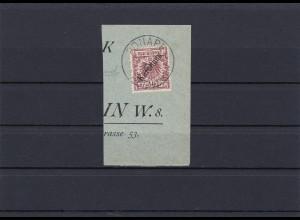 Karolinen: MiNr. 6/I auf Briefstück, gestempelt, BPP Attest, Erstauflage