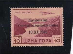 Montenegro: Flug 10L, MiNr. 19, *