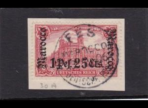 Marokko, MiNr. 30 A auf Briefstück