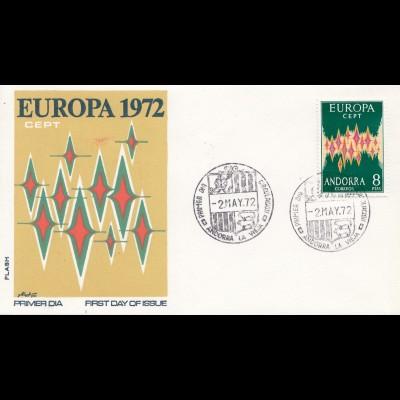 Andorra: 1972: Europa FDC