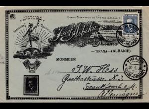 Albanien: 1926: Tirane nach Deutschland