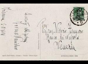 Albanien: 1939: Ansichtskarte Tirane nach Venedig