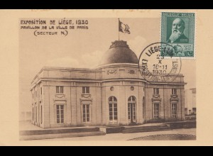 Belgien: 1930: Ansichtskarte: Exposition de Liege 1930