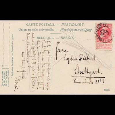 Belgien: Ansichtskarte Anvers nach Stuttgart