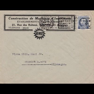 1925: Construction de Machines Bruxelles nach Dresden: Druckmaschinen