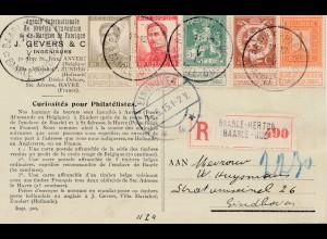 Belgien: 1915: Baarle-Hertob-Ganzsache nach Eindhoven/Enclave