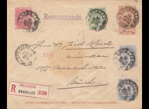 Belgien: 1905: Brief von Bruxelles nach München