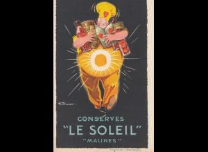 """Belgien: Conserves: """"Le Soleil"""" Malines, Liege"""