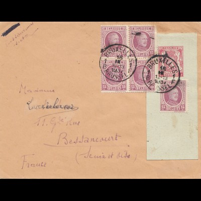 Belgien: 1937: Bruxelles nach Frankreich