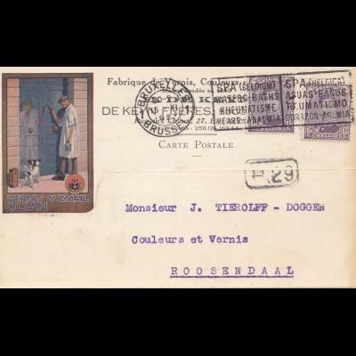 Belgien: 1923: Bruxelles to Roosendaal: Hund