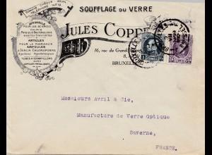 Belgien: Brief Bruxelles (Soufflage du verre) nach Saverne