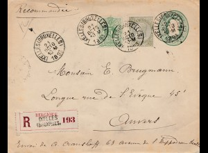 Belgien: 1893: Ixelles/Bruxelles to Nvers