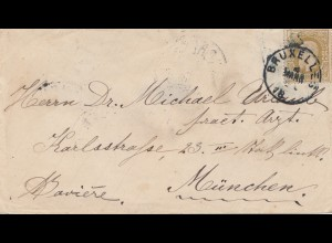 Belgien: 1881: Bruxelles to Germany-München