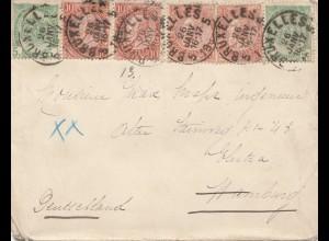 Belgien: Bruxelles nach Deutschland 1899