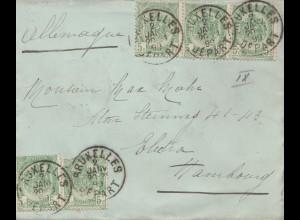 Belgien: 1899 von Bruxelles nach Deutschland