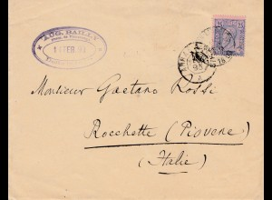 Belgien: 1895 nach Italien