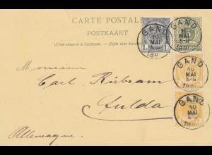 Belgien: 1891: Gand nach Deutschland