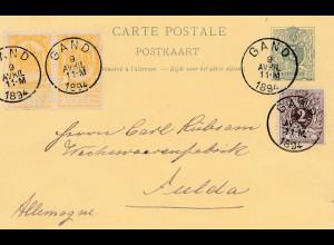 Belgien: 1894: Gand nach Deutschland
