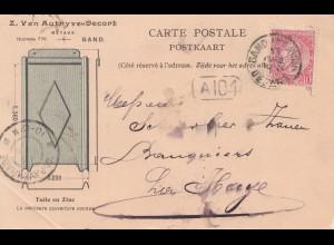 Belgien: 1903: Carte Postale Gand nach La Hage