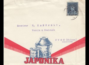 Belgien: 1931: Anvers in die Schweiz-Japonika