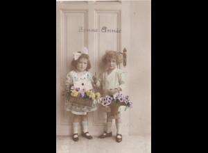 Belgien: Ansichtskarte - Mädchen Brasscil