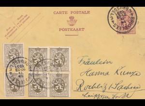 Belgien: 1931: Bruxelles nach Sachsen- Urkunde