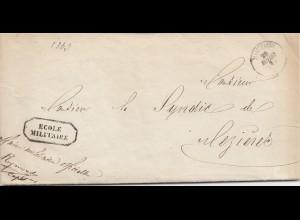 Belgien: 1863: Ecole Militaire-Loneon-Moudom