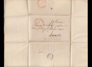Belgien: 1833: Charleroy to Bruxelles