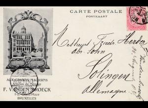 Belgien: 1920: Bruxelles to Solingen