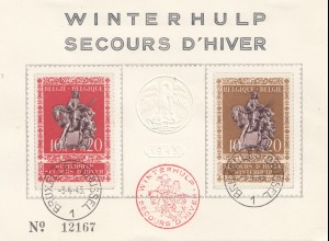 Belgien: 1943: Winterhulp Bruxelles