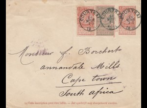 Belgien: 1894 Courtrai to Cape Town-South Africa