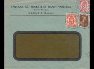Belgien: 1937: Marloie-Ganzsachenausschnitt