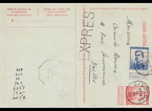 Belgien: 1913: Gembloux Express-Ganzsache