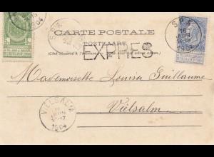 Belgien: 1904: Ansichtskarte Spa nach Vielsalm