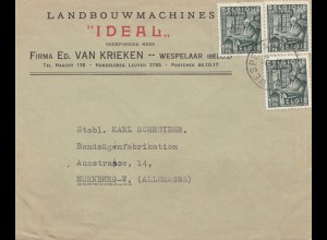 Belgien: Brief aus Wespelaar nach Nürnberg - Bandsäge