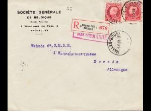 Belgien: 1924: Bruxelles nach Deutschland