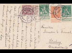 Belgien: 1912 Ansichtskarte Ostende-Antwerpen nach Deutschland