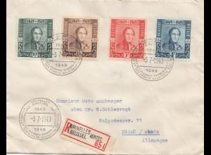 Belgien: 1949: Bruxelles nach Mainz
