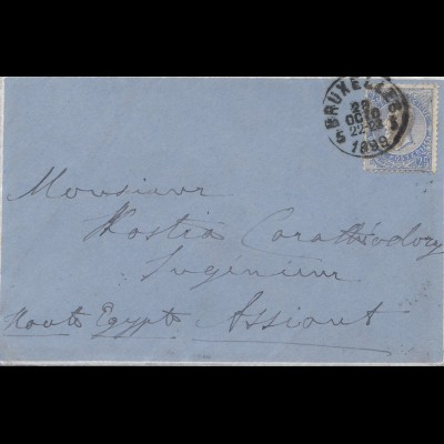 Belgien: 1899: Bruxelles nach Egypt